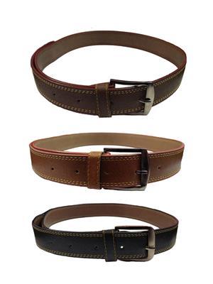 Ansh Fashion Wear 3CM-BELT-4 Brown-Black Men Belts Set Of 3