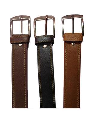 Ansh Fashion Wear 3CM-BELT-5 Brown-Black Men Belts Set Of 3