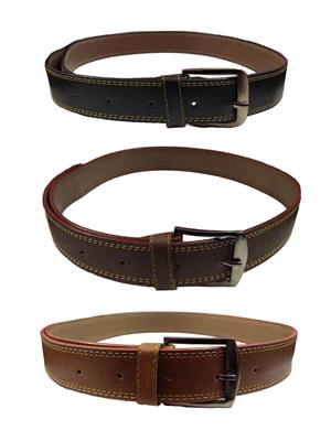 Ansh Fashion Wear 3CM-BELT-6 Brown-Black Men Belts Set Of 3