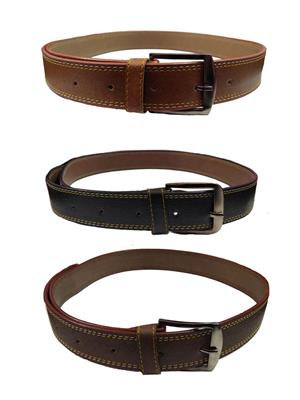 Ansh Fashion Wear 3CM-BELT-8 Brown-Black Men Belts Set Of 3