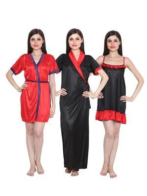 Ansh Fashion Wear 3Cm-W-Doll-31 Multicolored Women Night Wear Set Of 3