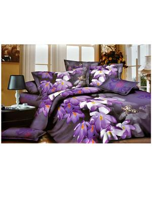 Jazz 3D4 Multicolored Double Bedsheet With 2 Pillow Covers