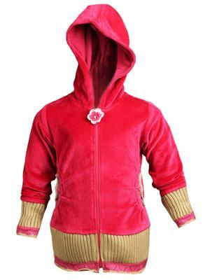 Ziama 4118 Red Girl Hooded Sweatshirts