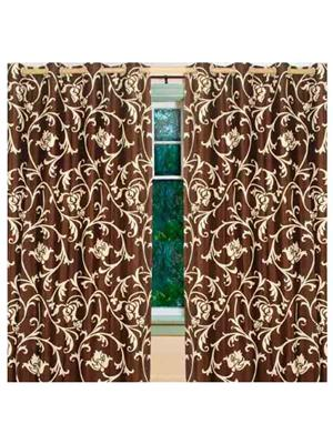 SAI ARPAN 5008-7-2 Brown Door Curtain