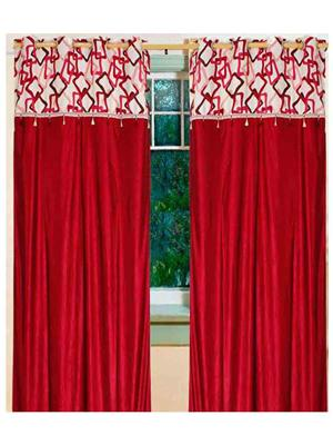 SAI ARPAN 5021-7-2 Maroon Door Curtain