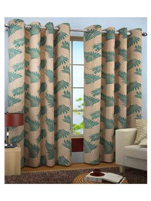 SAI ARPAN 5022-7-2 Green Door Curtain