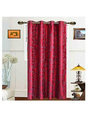 SAI ARPAN 5034-7-1 Maroon Door Curtain