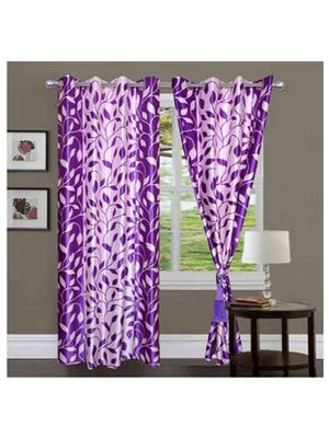 SAI ARPAN 5039-7-2 Purple Door Curtain