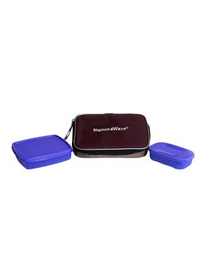 Signoraware 503 Deep Violet Lunch Box With Bag