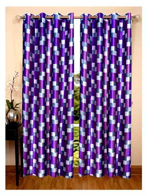 SAI ARPAN 5046-7-2 Purple Door Curtain