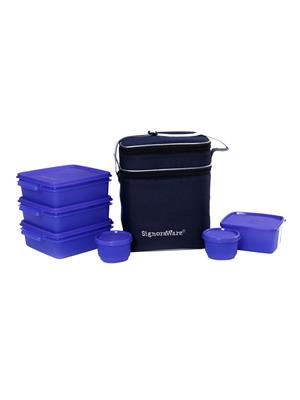 Signoraware 504 Deep Violet Lunch Box With Bag