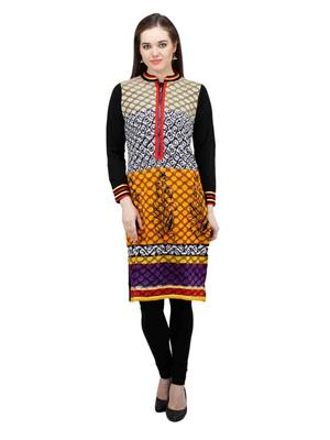 Gauri 504 Black Women Woolen Kurti
