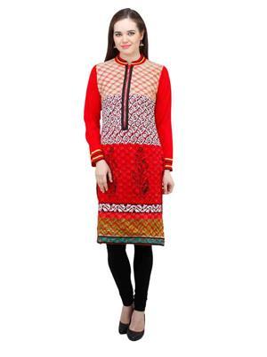 Gauri 504 Red Women Woolen Kurti