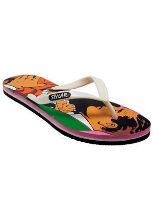 Stylar 512-5112 Pink-White Women Flip Flops
