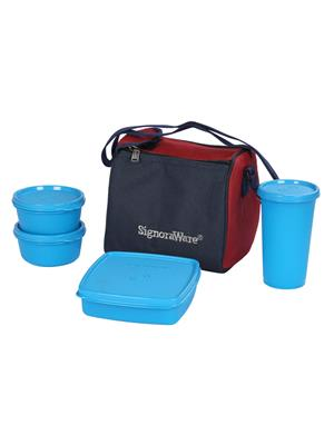 Signoraware 513 Blue Lunch Box With Bag