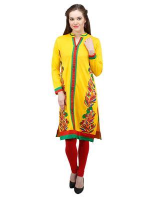 Gauri 513 Yellow Women Woolen Kurti