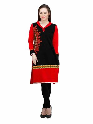 Gauri 515 Black Women Woolen Kurti