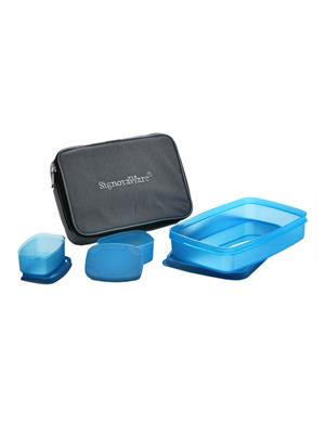 Signoraware 515 Blue Lunch Box With Bag