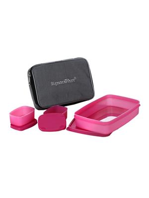 Signoraware 515 Pink Lunch Box With Bag