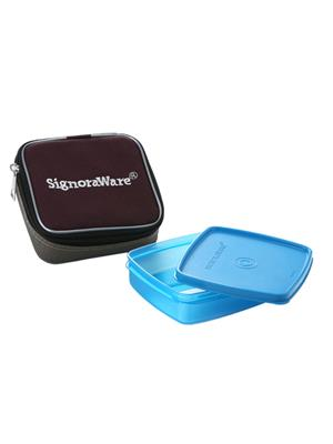 Signoraware 518 Blue Lunch Box With Bag