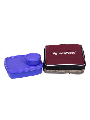 Signoraware 518 Deep Violet Lunch Box With Bag