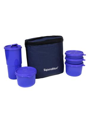 Signoraware 520 Deep Violet Lunch Box With Bag