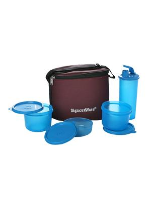 Signoraware 521 Blue Lunch Box With Bag