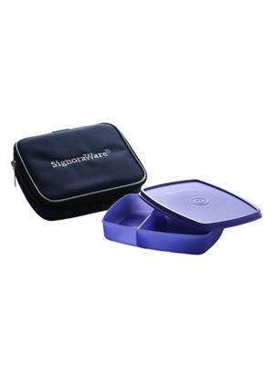 Signoraware 527 Deep Violet Lunch Box With Bag