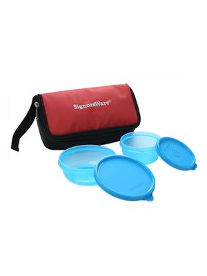 Signoraware 530 Blue Lunch Box With Bag