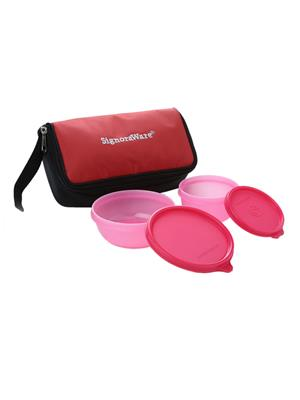 Signoraware 530 Pink Lunch Box With Bag