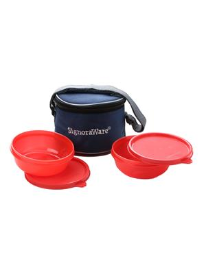 Signoraware 535 Deep Red Lunch Box With Bag