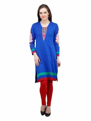 Gauri 536 Blue Women Woolen Kurti