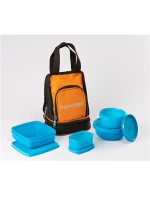 Signoraware 536 Blue Lunch Box With Bag