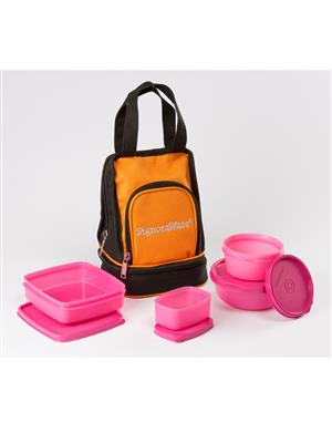 Signoraware 536 Pink Lunch Box With Bag