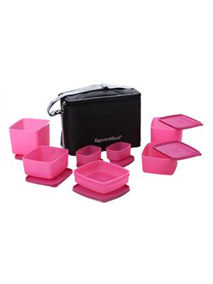 Signoraware 537 Pink Lunch Box With Bag