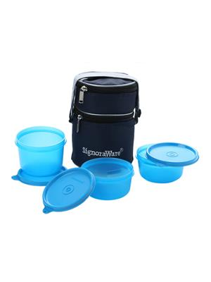 Signoraware 538 Blue Lunch Box With Bag