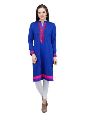 Gauri 540 Blue Women Woolen Kurti