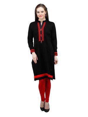 Gauri 540 Black Women Woolen Kurti