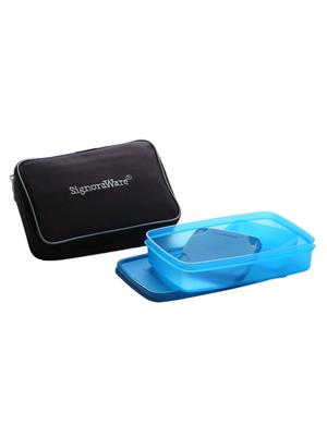 Signoraware 542 Blue Lunch Box With Bag