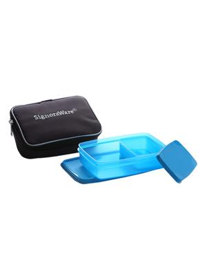 Signoraware 544 Blue Lunch Box With Bag