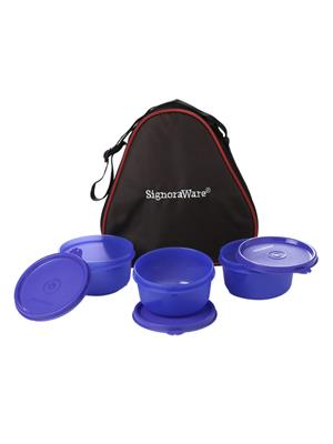 Signoraware 548 Deep Violet Lunch Box With Bag