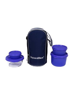 Signoraware 550 Deep Violet Lunch Box With Bag