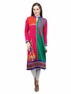 Gauri 550 Multicolor Women Woolen Kurti