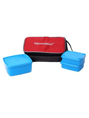 Signoraware 552 Blue Lunch Box With Bag