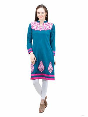 Gauri 560 Green Women Woolen Kurti