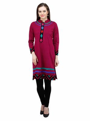 Gauri 561 Dark Red  Women Woolen Kurti