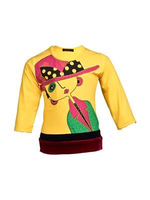 Ziama 6019 Yellow Girl Top