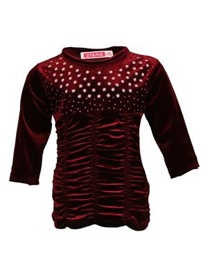 Ziama 6139 Maroon Girl Sweatshirts
