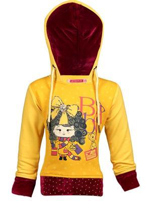 Ziama 6213 Yellow Girl Hooded Sweatshirts