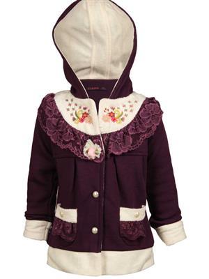 Ziama 6256 Purple Girl Hooded Sweatshirts